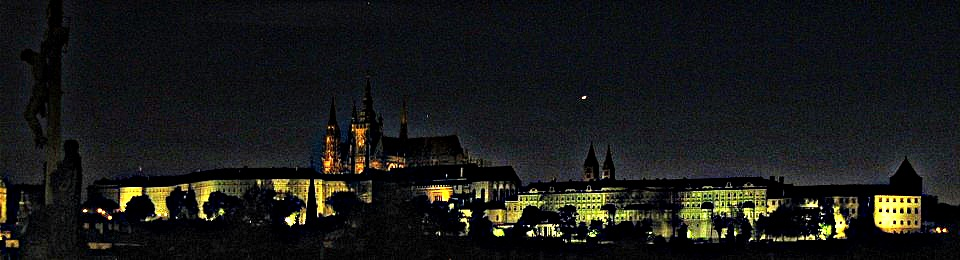 Hradcany at night from Charles Bridge